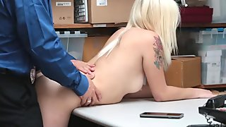 Girlfriend Fucked By Sleazy Officer and Boyfriend Watches