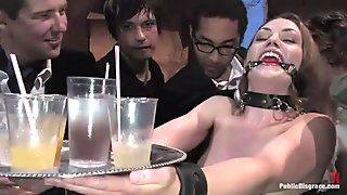 Hot pretty girl gets mind fucked and bondage sex