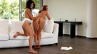 Victoria Daniels and Billie Star in lesbian scene by Sapphic