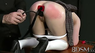 Toys In Tied Babe's Ass