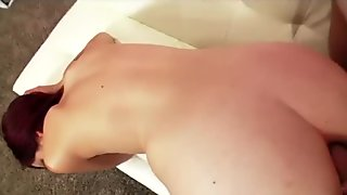 Incredibly HOT redhead takes a big-dick in her tight ass