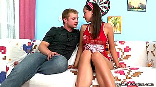 Young darling is enticed to have 3some