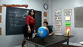 The teacher will punish you...and the two young coeds.