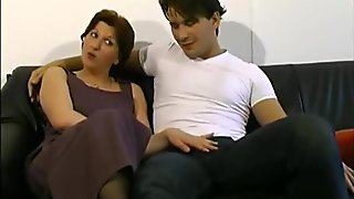 Horny Young Guy Abuses & Defiles His Busty French Mom!
