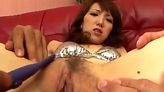 Ai loves having her bush pumped in serious toy scenes