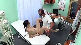Puffy nippled patient cocksucking doctor