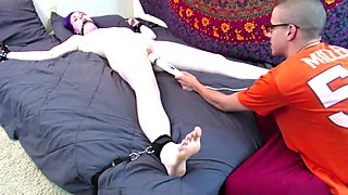 Tied Tickle Torture and Orgasms
