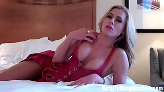 You are horny jerk it to my boobs JOI