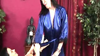 Girl/Girl Massage Turns To Hot Lesbian Action