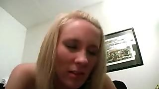 Amateur Blonde Teen in Lingerie Gets Cum In Mouth and Face