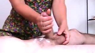 Penis massage 2 with massive cumshot
