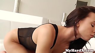 Smoking gonzo babe gets interracial drilling
