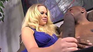 Britney Young Plays with Mandingo's BBC